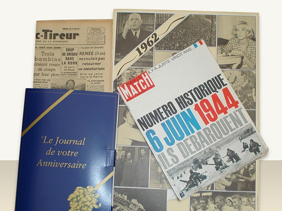 journal anniversaire + L'Illustration ou Paris-Match + Affiche